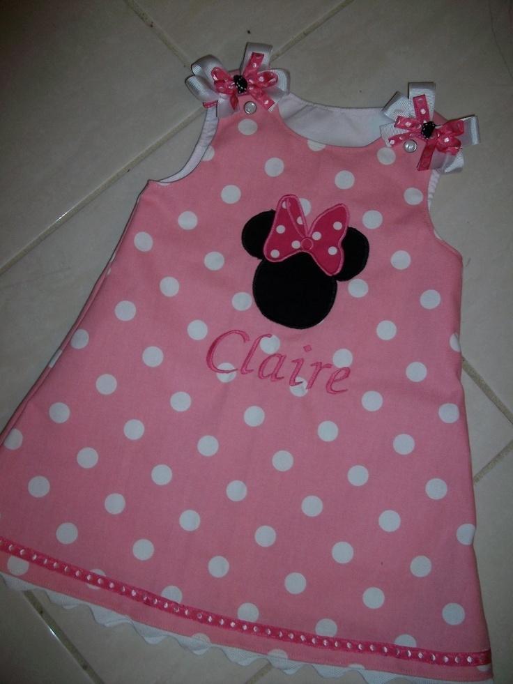 Pink+Polka+Dot++Miniie+Mouse+jumper+dress+by+kandybarnett+on+Etsy,+$35.00