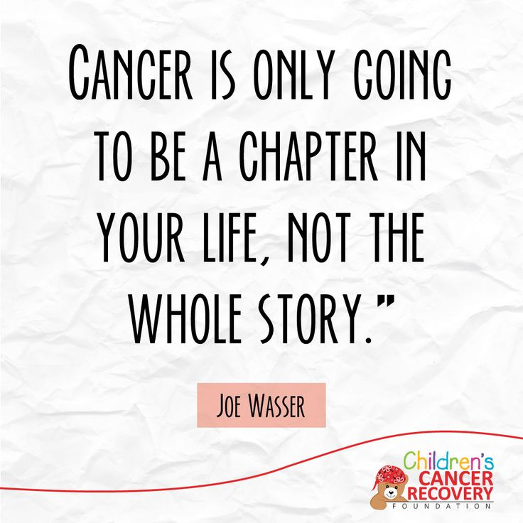 Cancer quotes from a mom who went through it Don't let a chapter become your whole story. ♥ #Motivation #ChildhoodCancer #Cancer