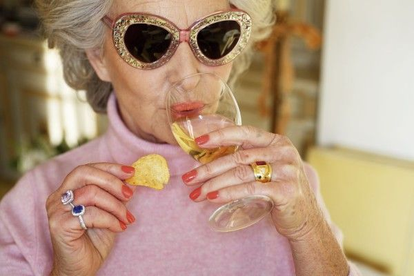 Martin Parr photo of FABulous 80-year-old woman