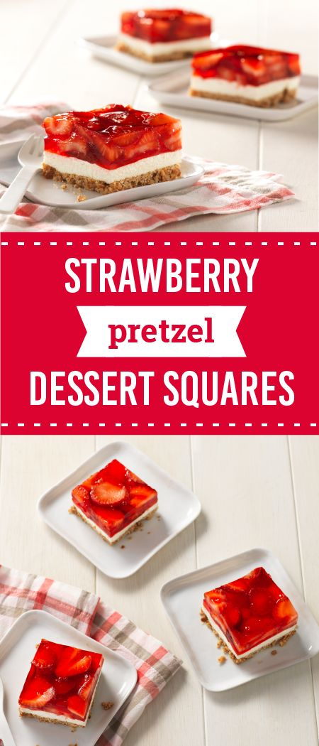 Strawberry Pretzel Dessert Squares – Find layer after layer of yummy goodness in this sweet and salty recipe. Learn how you can make this fruity treat for your next party or potluck this summer.
