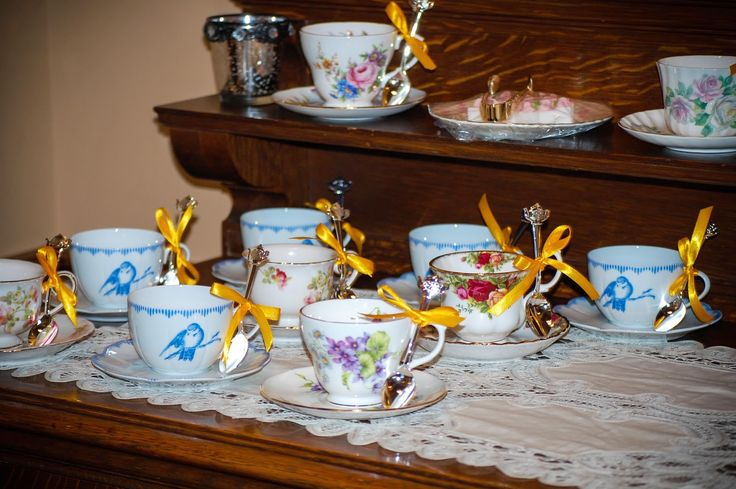 Afternoon tea at Beauty & the Beast themed bridal shower