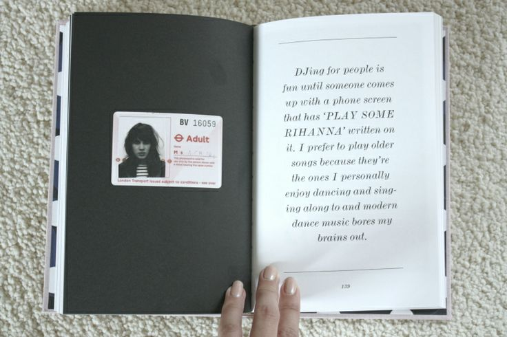 Alexa Chung music quote from her book 'IT'