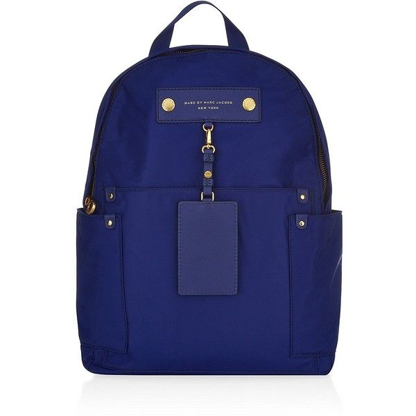 Marc by Marc Jacobs Preppy Nylon Backpack (181.835 CLP) ❤ liked on Polyvore featuring bags, backpacks, preppy backpacks, nylon bag, marc by marc jacobs, marc by marc jacobs knapsack and blue bag