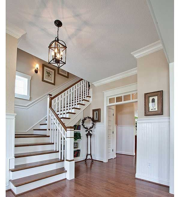 This might be my favorite staircase ever. Love the window, breadboard, and orientation of the stairs.