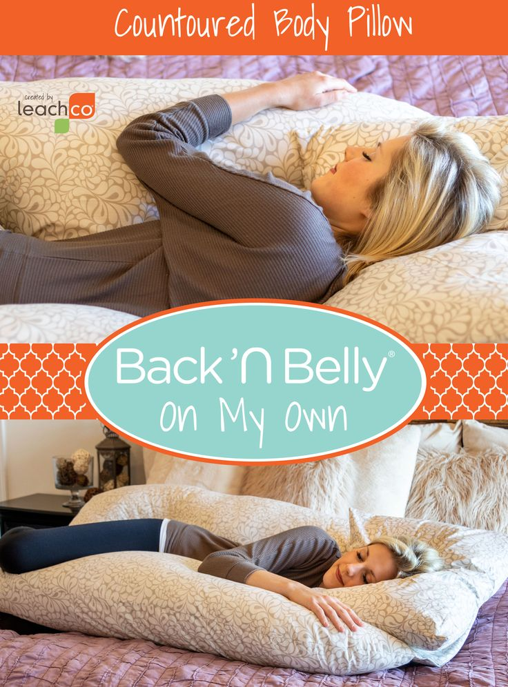 Back 'N Belly® On My Own Body pillow, Wash pillows