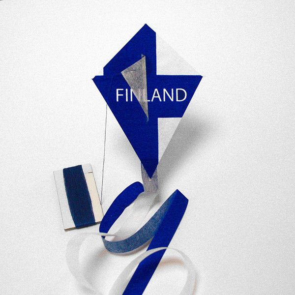 FINLAND flag kite http://kitecompany.com/collections/flagkite/products/flagkite-finland?variant=822993547