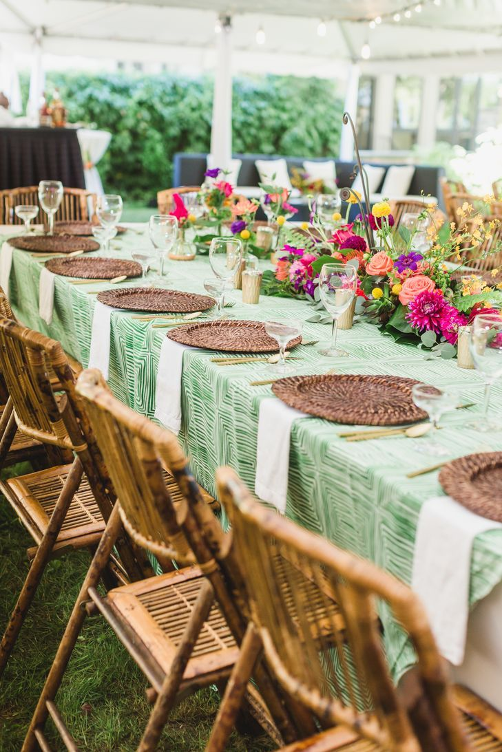 Colorful Summer Wedding Table Setting | Summer wedding colors ...