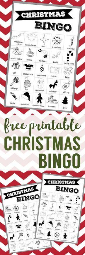 Free Christmas Bingo Printable Cards. Christmas bingo holiday game for a Christmas party or classroom party activity. Christmas bingo boards.