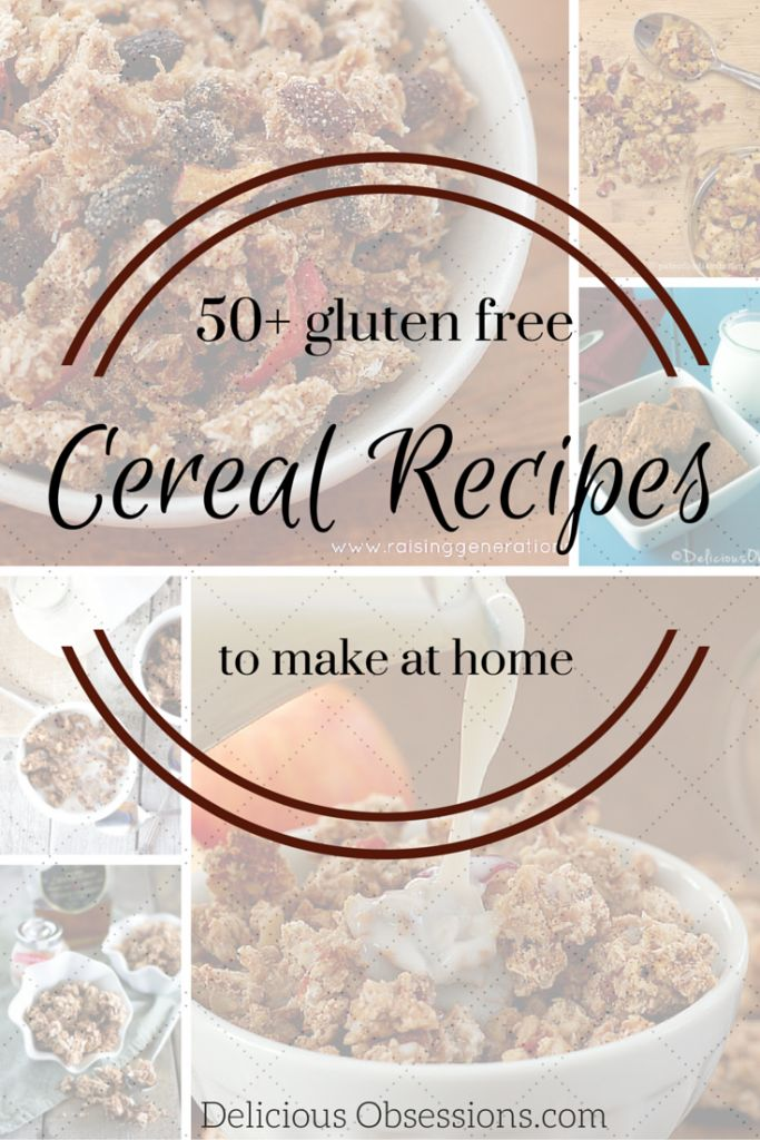 50+ Gluten Free Cereal Recipes // #glutenfree #grainfree #cereal #paleo #primal // deliciousobsessions.com