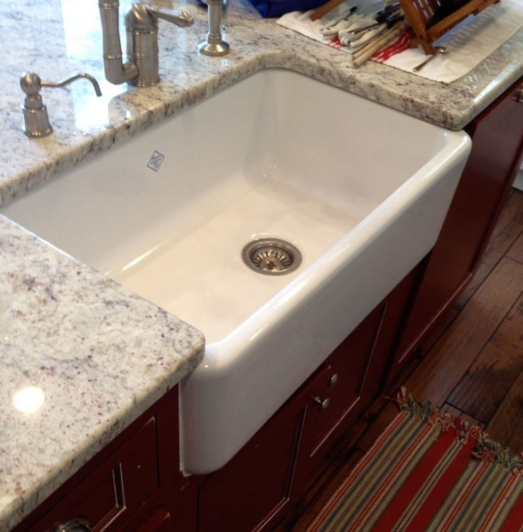 Rohl RC3018WH Original Shaws Fireclay Apron Kitchen Sink in White