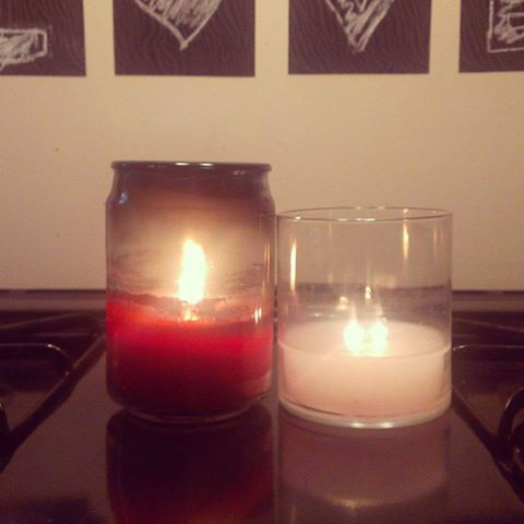 Why I ONLY burn PartyLite!!! Non Partylite Candle (left) Vs Partylite Candle (right). #candles #partylite.  Www.Partylite.biz/michelletuskky
