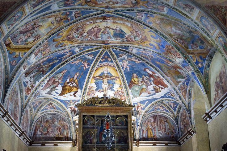 Santuario della SS. Trinità, Ronco Trinità - Casnigo (Bergamo) - La piccola Cappella Sistina bergamasca - Secolo XV-XVII Artista: Marinoni e Baschenis