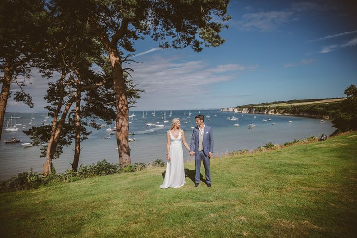 Couple tie their knot on a beach venue in the south of England