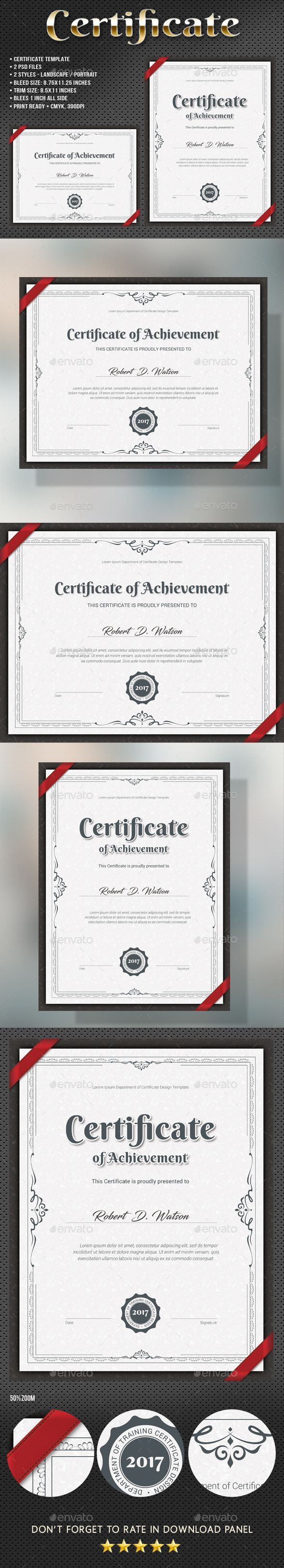 #Certificate - Certificates #Stationery Download here: https://graphicriver.net/item/certificate/19315710?ref=alena994