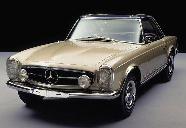 "Mercedes Benz 230, 250, and 280 SL (1960-63)   The SL stood for super leicht (""super light"")"