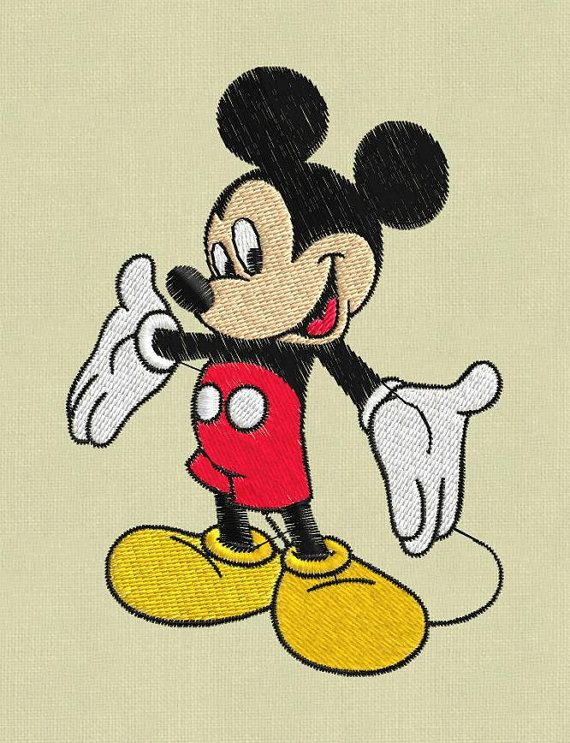 Mickey Mouse 2 embroidery designs pes hus jef by ViolaFashion