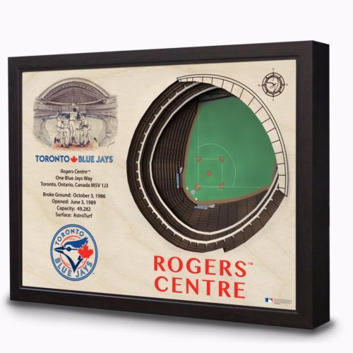 TORONTO BLUE JAYS STADIUM VIEW WALL ART ROGERs CENTRE STADIUM 3D HANGING DISPLAY, $199.99