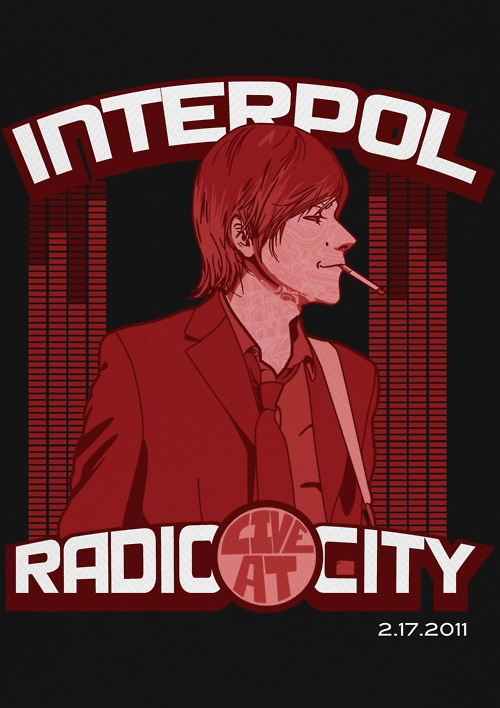 Paul Banks lead singer of Interpol