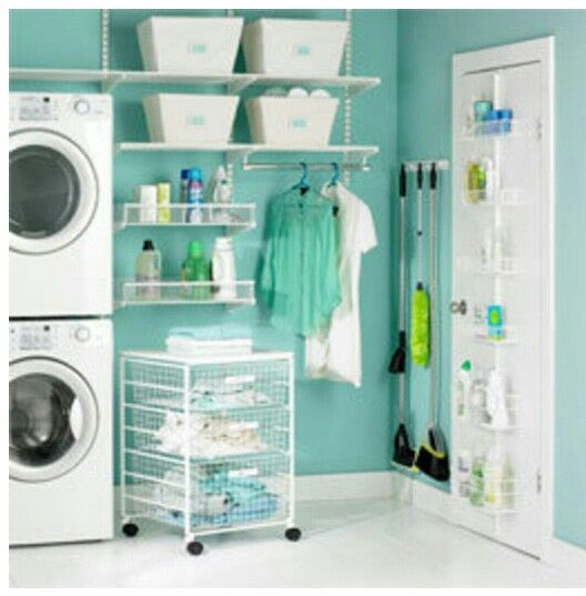 Love the idea of stacking the washer n dryer to have more space in the Landry room