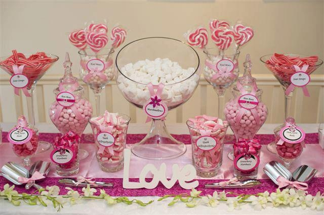 Candy buffet same set up but in my wedding colors
