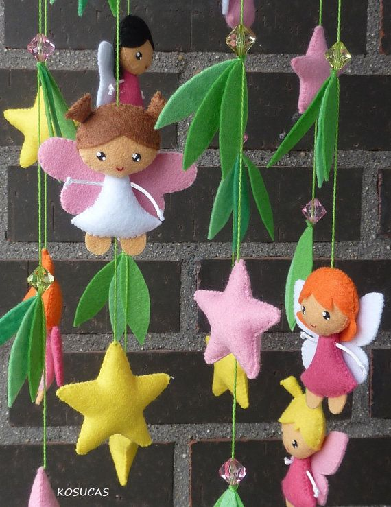 Felt mobile with fairies and stars. by Kosucas on Etsy, €50.00