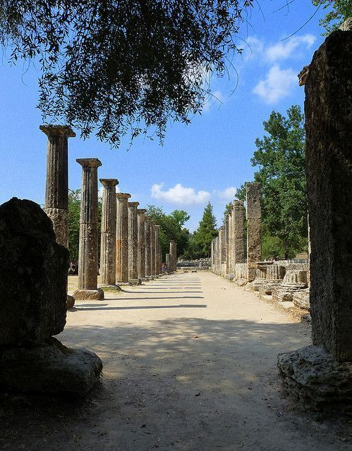It may not look like much, but this place is where the first Olympic Flame was lit! #Olympia, #Greece