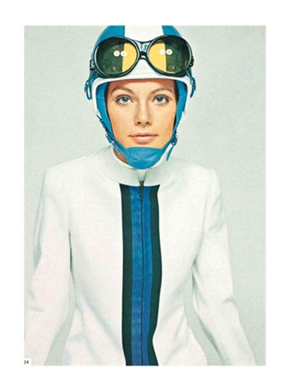 David Bailey, Fusalp sportswear, Sandri Sport hat, Vogue Italia, Dec 1967.