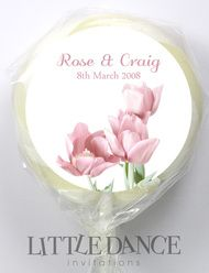 Tulips Wedding Personalised Lollipops