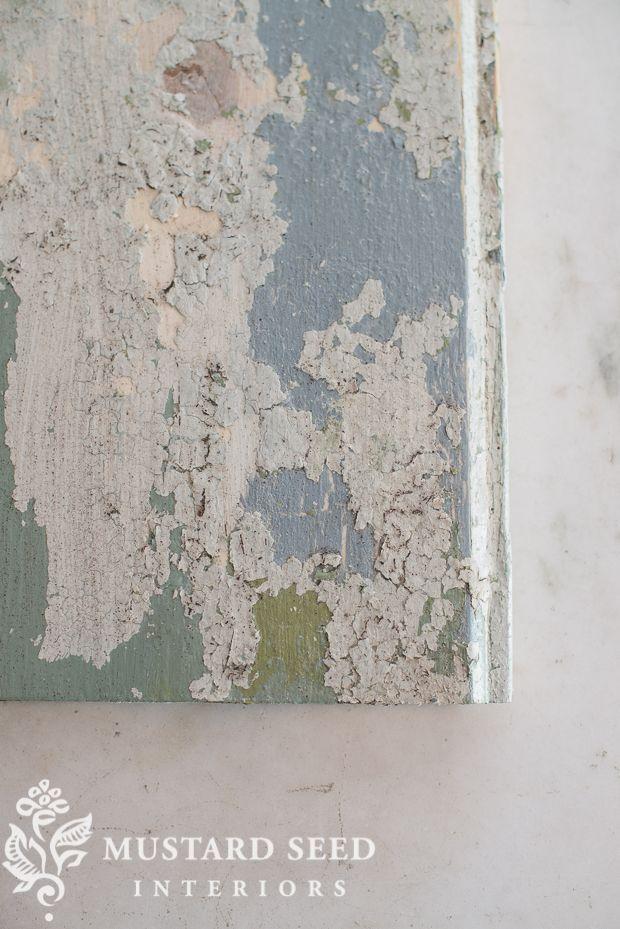 Mustard Seed flaky paint tutorial