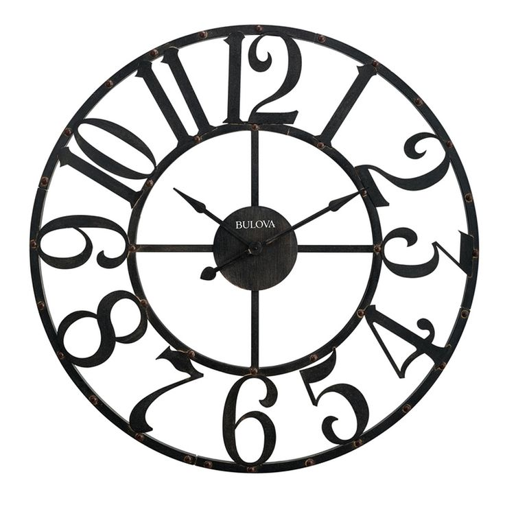 "The Gabriel 45"" Oversize Wall Clock will be the centerpiece of any room!  This…"