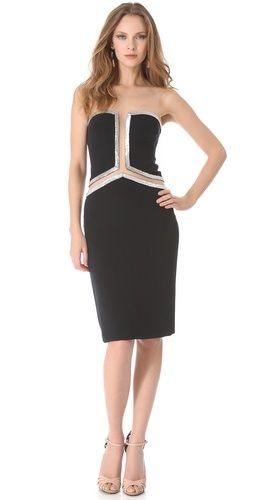 Reem Acra Beaded Dress