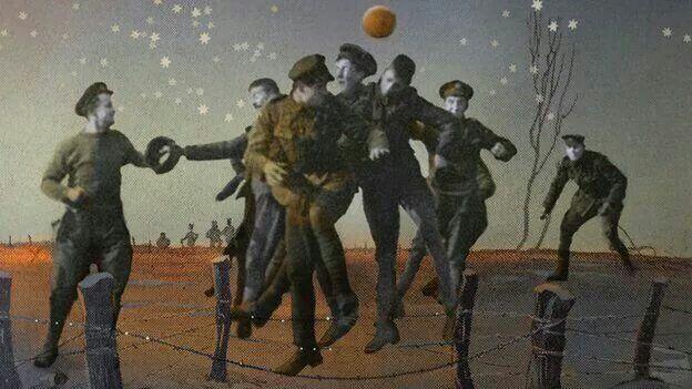 The Christmas truce WW1