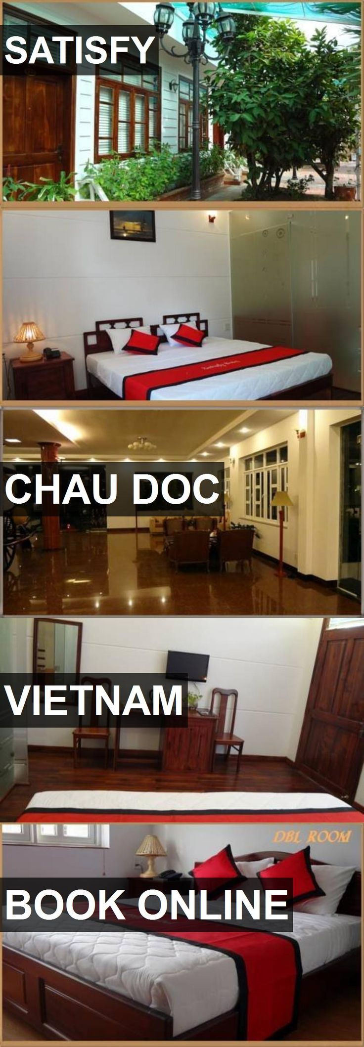 Hotel SATISFY in Chau Doc, Vietnam. For more information, photos, reviews and best prices please follow the link. #Vietnam #ChauDoc #travel #vacation #hotel