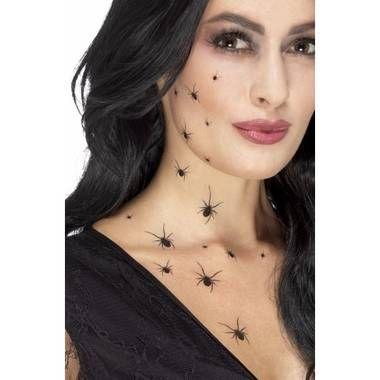 Halloween - zwarte spinnen tattoos