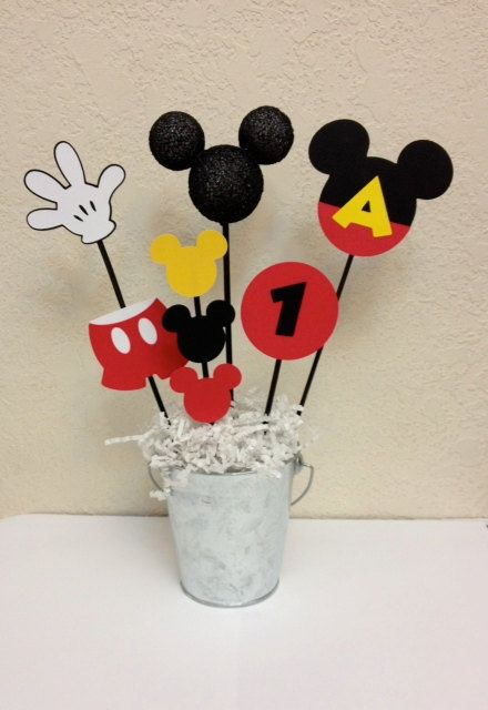 Mickey Mouse Birthday Centerpiece or Baby by TheGirlNXTdoor