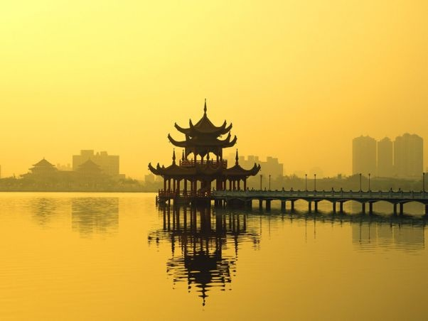 Lotus Lake, Kaohsiung, Taiwan.
