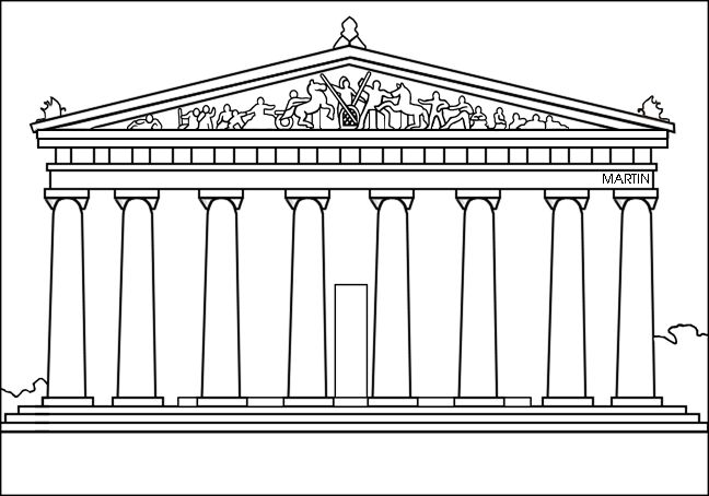 parthenon greece drawing coloring page - Google Search