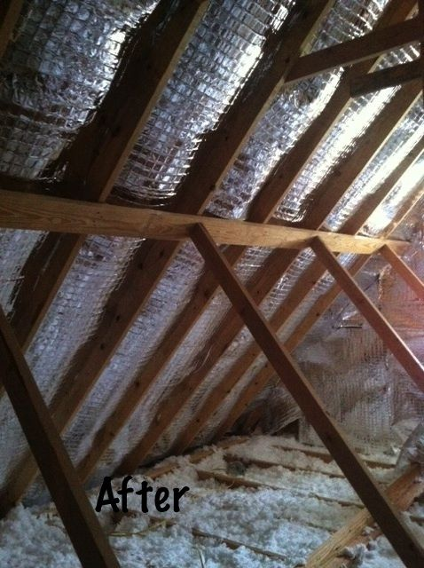 DIY radiant barrier insulation - particularly effective in hot climates.