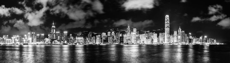 Panorama of the Hong Kong Skyline