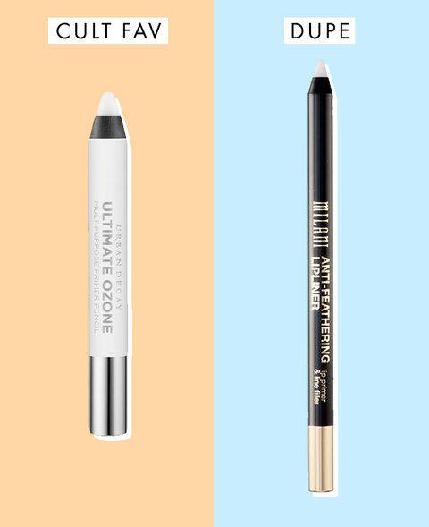 Dupe: Milani Cosmetics Anti-Feathering Lip Liner, $4.99 Cult Favorite: Urban Decay Ultimate Ozone Multipurpose Primer Pencil, $18