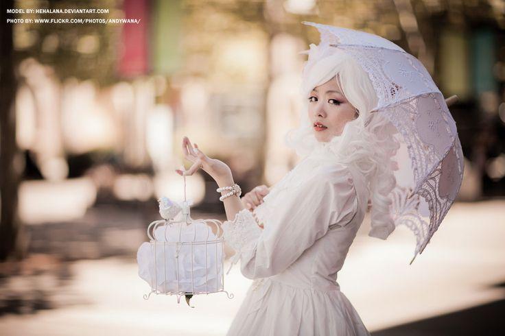 Shiro Lolita - hehalana  http://browse.deviantart.com/#/d4xv8kb