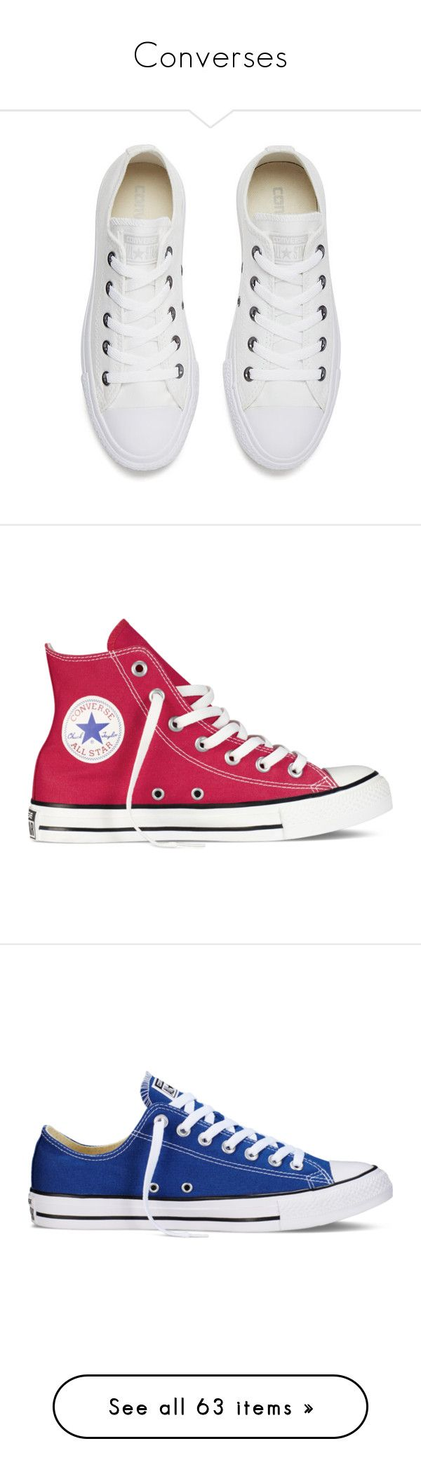 """Converses"" by twaayy ❤ liked on Polyvore featuring shoes, sneakers, converse, flats, shoes - sneakers, converse trainers, silver flat shoes, flats sneakers, white trainers and canvas trainers"