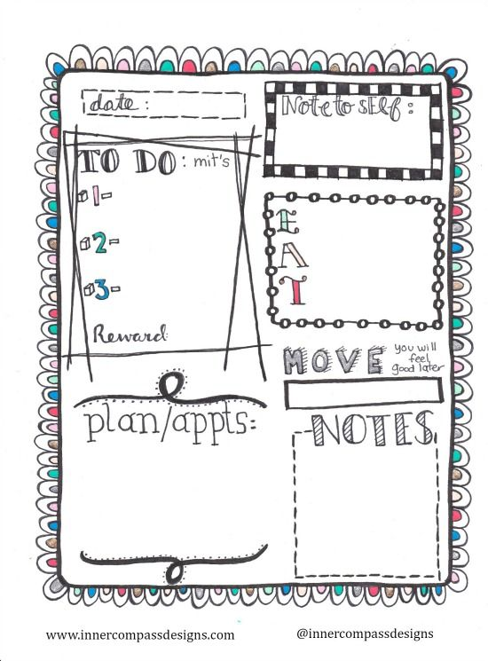 Inner Compass: Free Printable Daily Planner