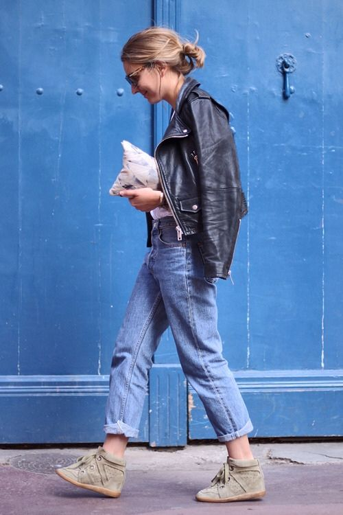 denim and leather biker