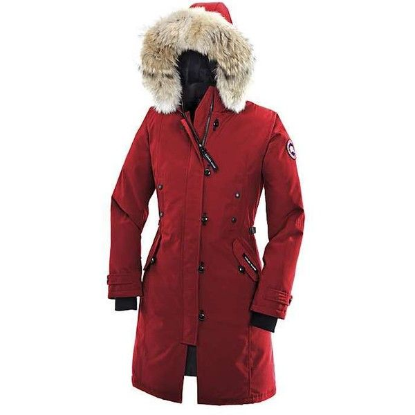 Canada Goose Women's Kensington Parka (1 650 BGN) ❤ liked on Polyvore featuring red and canada goose
