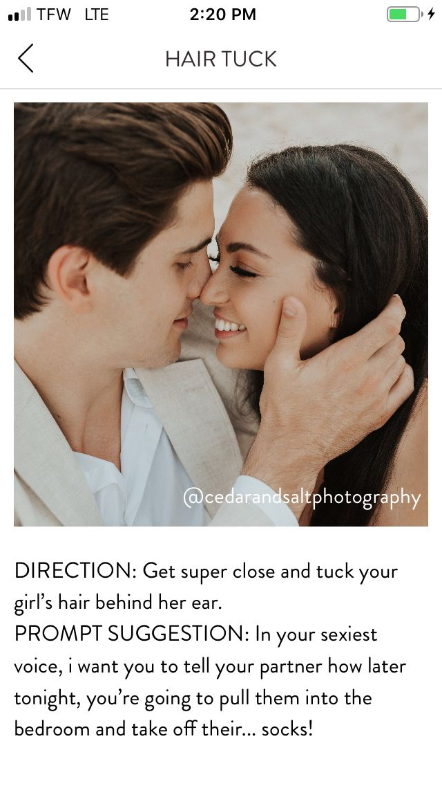 Pin By Jaclyn Miller On Poses Couples Sitting Hair Tuck Photo Prompts Told You So