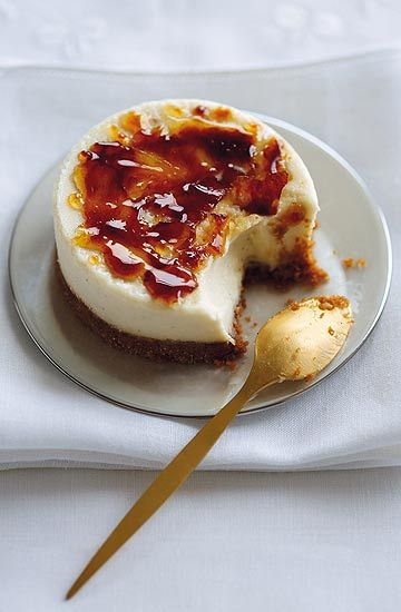 Creme brulee mini cheesecakes - Crème-brûlée-Mini-Käsekuchen