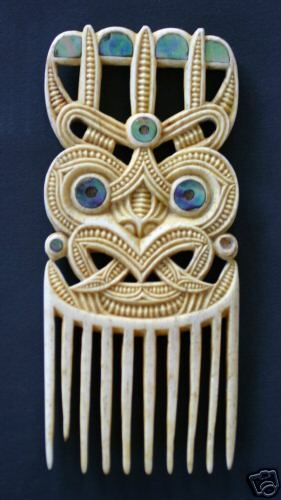 One of the greatest Maori carvers created this Heru comb. Pataromu Tamatea. It sold on ebay for $1825.                                                                                                                                                     More