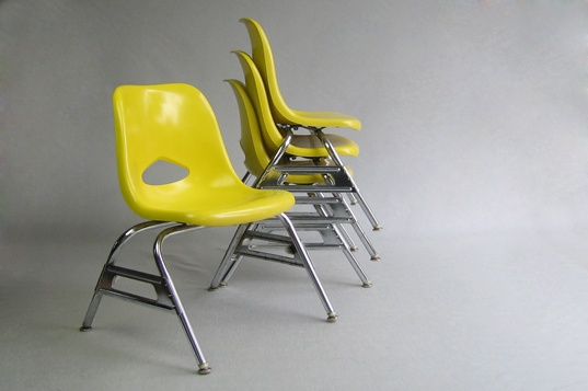Krueger Metal Products Green Bay, WIS. 60u0027s Fiberglass Child Chairs Krueger  Metal Products Created These Eames Style Yellow Fiberglass Chairs As A U2026