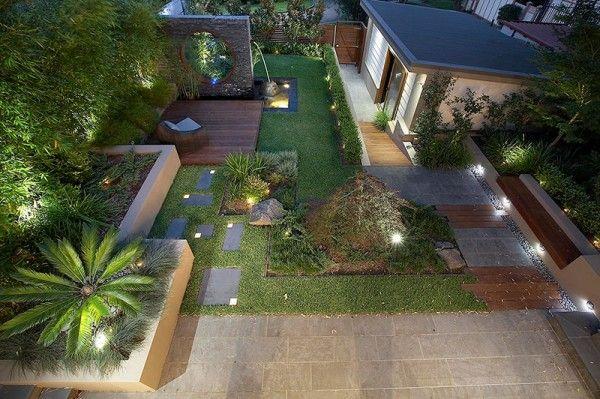 Jardin design aux formes géométriques